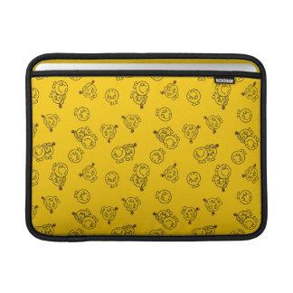 Mr Happy & Little Miss Sunshine | Yellow Pattern MacBook Sleeve