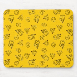 Mr Happy & Little Miss Sunshine | Yellow Pattern Mouse Pad