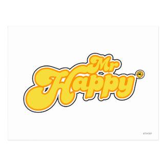 Mr Happy Logo 1 Postcard