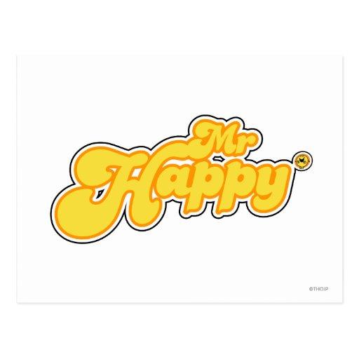 Mr Happy Logo 1 Post Card