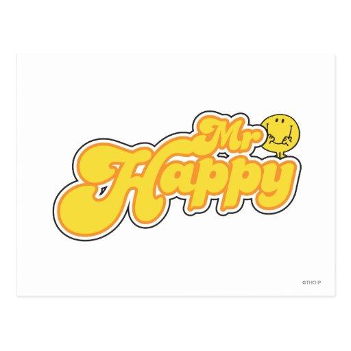 Mr Happy Logo 2 Postcard