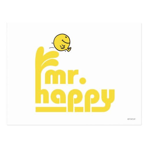 Mr Happy Logo 3 Post Card