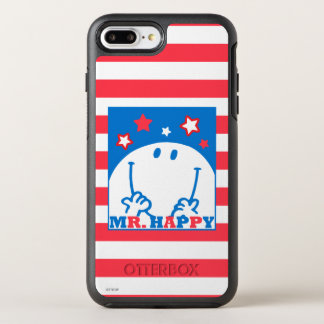 Mr Happy Patriotic Red White And Blue Icon 2 OtterBox Symmetry iPhone 7 Plus Case