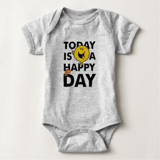 Mr. Happy | Today is a Happy Day Baby Bodysuit