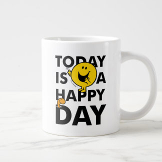 Mr. Happy   Today is a Happy Day Large Coffee Mug