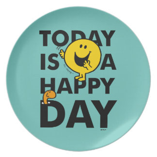 Mr. Happy | Today is a Happy Day Plate