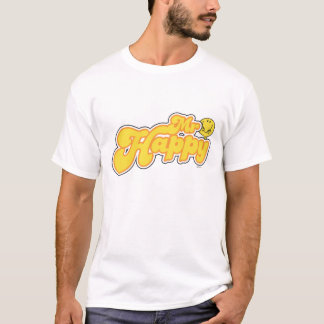 Mr. Happy | Yellow Lettering T-Shirt