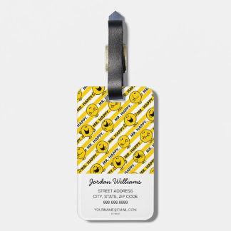 Mr Happy | Yellow Stripes Pattern Bag Tag