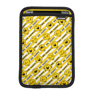 Mr Happy | Yellow Stripes Pattern iPad Mini Sleeve
