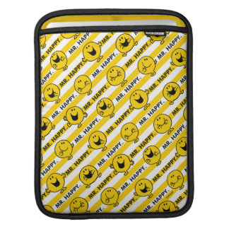 Mr Happy | Yellow Stripes Pattern iPad Sleeve