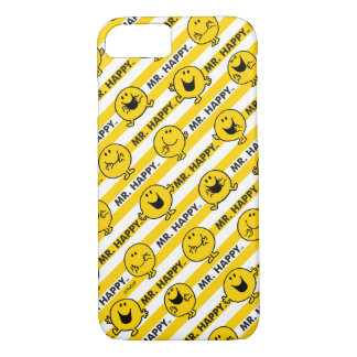 Mr Happy | Yellow Stripes Pattern iPhone 8/7 Case
