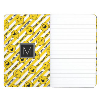 Mr Happy | Yellow Stripes Pattern | Monogram Journal