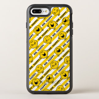 Mr Happy | Yellow Stripes Pattern OtterBox Symmetry iPhone 8 Plus/7 Plus Case