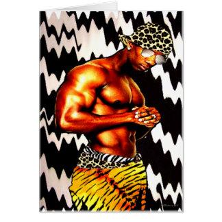 Mr. Hip Hop & Animal Prints Card