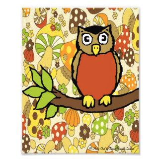 Mr Hooty Owl Baby Wall Print