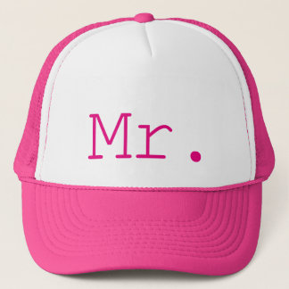 Mr. Hot Pink Customizable Trucker Hat