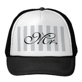 Mr. Husband Groom Click to Customize Color Stripes Cap
