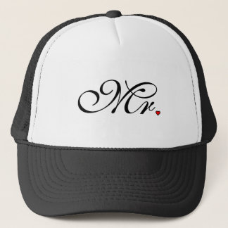 Mr. Husband Groom His Her Newly Weds Trucker Hat