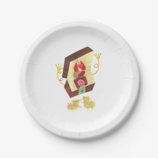 Mr Inside Out Man Paper Plate 7 Inch Paper Plate