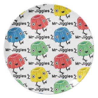 Mr Jiggles - jello plate