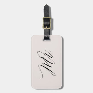 Mr. JUST MARRIED Grey Luggage Tag