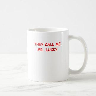 mr lucky coffee mug