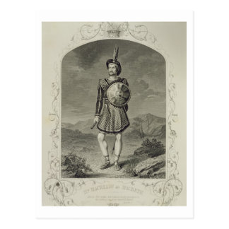 Mr Macready as Macbeth, Act I Scene 3, in the play Postcard
