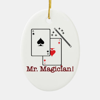 Mr. Magician! Ceramic Ornament