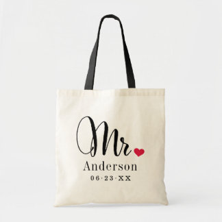 Mr. Married Monogram | Wedding Gift Tote Bag
