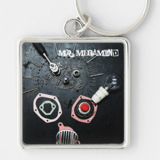MR. MEGAMIND Silver-Colored SQUARE KEY RING