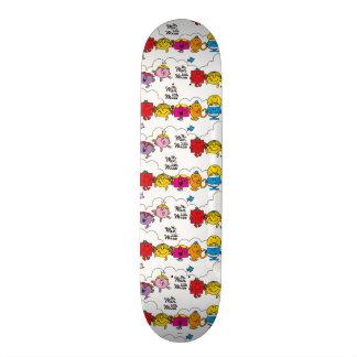 Mr Men & Little Miss | All In A Row 21.6 Cm Old School Skateboard Deck