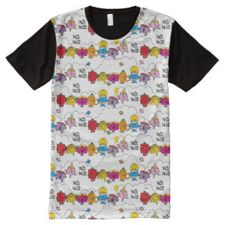Mr Men & Little Miss | All In A Row All-Over Print T-Shirt
