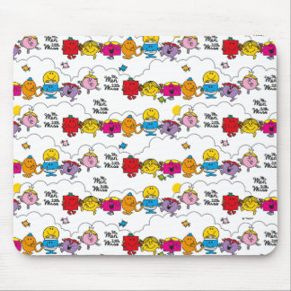 Mr Men & Little Miss   All In A Row Mouse Pad
