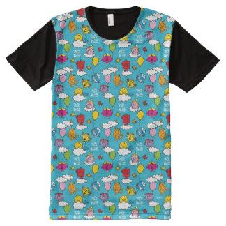 Mr Men & Little Miss | Birds & Balloons In The Sky All-Over Print T-Shirt