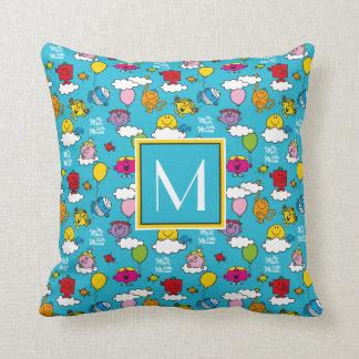 Mr Men & Little Miss | Birds & Balloons In The Sky Cushion