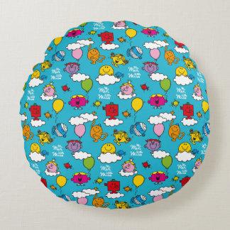 Mr Men & Little Miss | Birds & Balloons In The Sky Round Cushion