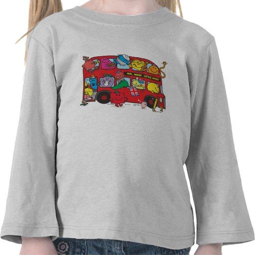 Mr Men & Little Miss Bus Shirts