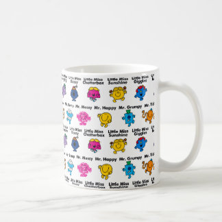 Mr Men & Little Miss | Character Names Coffee Mug