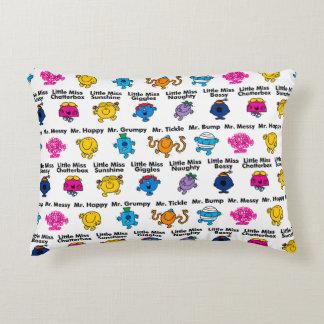 Mr Men & Little Miss | Character Names Decorative Cushion