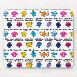 Mr Men & Little Miss | Character Names Mouse Pad