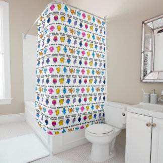 Mr Men & Little Miss | Character Names Shower Curtain