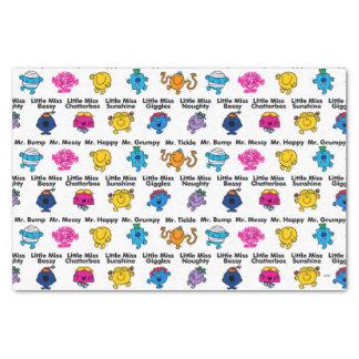 Mr Men & Little Miss | Character Names Tissue Paper