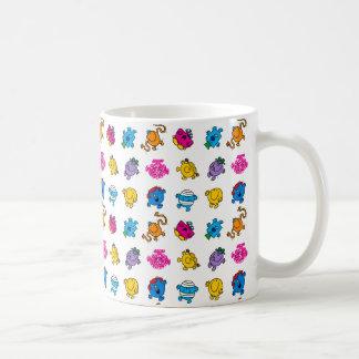 Mr Men & Little Miss | Dancing Neon Pattern Coffee Mug