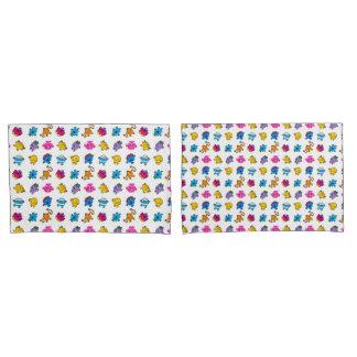 Mr Men & Little Miss | Dancing Neon Pattern Pillowcase