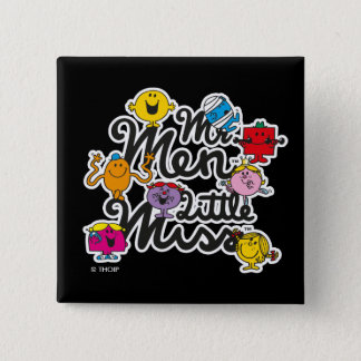 Mr. Men Little Miss   Group Logo 15 Cm Square Badge
