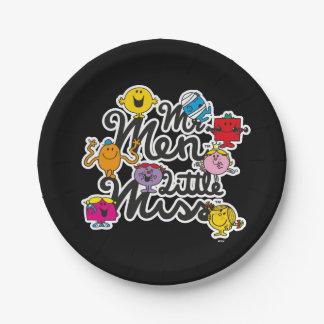 Mr. Men Little Miss | Group Logo 7 Inch Paper Plate