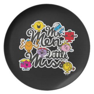 Mr. Men Little Miss | Group Logo Dinner Plates