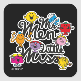 Mr. Men Little Miss | Group Logo Square Sticker