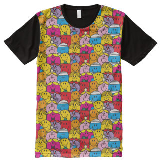 Mr Men & Little Miss | In A Crowd Pattern All-Over Print T-Shirt