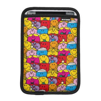 Mr Men & Little Miss | In A Crowd Pattern iPad Mini Sleeve
